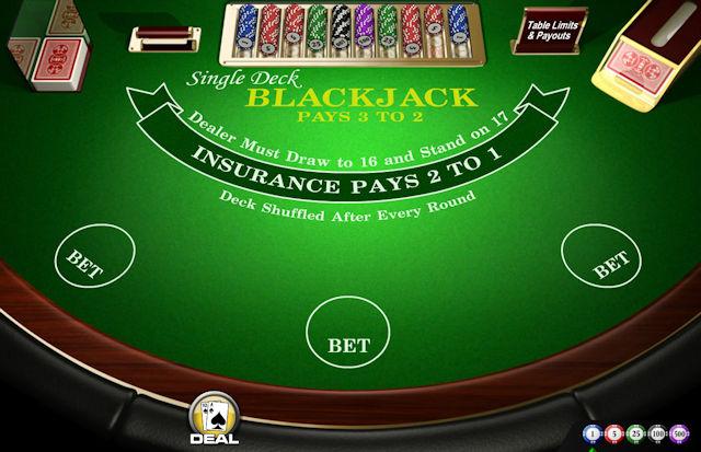 Ühe kaardipakiga blackjack